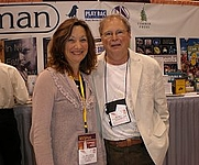 Author photo. Jill McCorkle with Jim Veatch at American Library Association annual meeting in Chicago