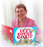 Author photo. Mem Fox with her latest book, Let's Count Goats, at the 2010 Baltimore Book Festival. 2010