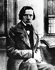 Author photo. The only known photograph of Frédéric Chopin, taken by Louis-Auguste Bisson in 1849. (Public domain; Wikipedia)
