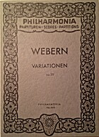 Variationen, Opus 30 by Anton Webern