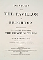 Designs for the pavillon at Brighton. :…