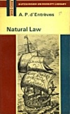 Natural Law by A. P. d'Entrèves