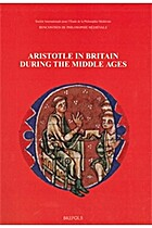 Aristotle in Britain during the Middle Ages…