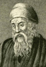 Author photo. Engraved image of Euclid