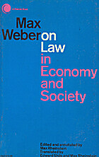 Max Weber on law in economy and society by…