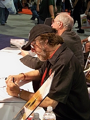 Author photo. DC Comics booth, San Diego Comic-Con International 2009, photo by Loren Javier