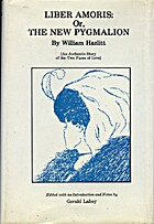 Liber Amoris by William Hazlitt