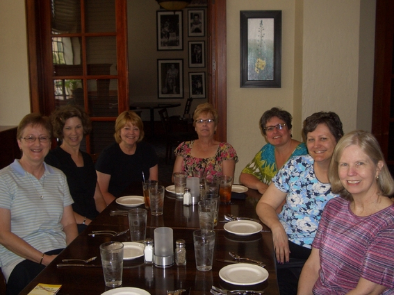 Waiting For Our Delicious Lunch At The Historic Eldridge Hotel In Lawrence Kansas From Left To Right Kathy Cheryl Chris Joyce Brenda Terri Donna