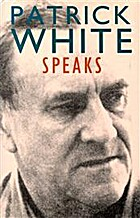Patrick White Speaks by Patrick White
