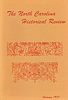 The North Carolina Historical Review, Volume…