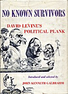 No known survivors; David Levine's political…