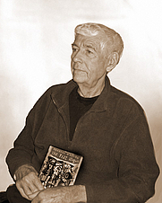 Author photo. Mr. Whiting, at age 80, with a copy of his first novel.<br/>[supplied by user iamiam (publisher)]