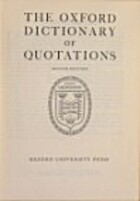 Oxford Dictionary of Quotations, Second…