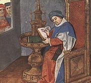 Author photo. From <a href=&quot;http://en.wikipedia.org/wiki/Image:BodleianDouce195Folio1rGuillaumeDeLorris.jpg&quot;>Wikipedia</a>