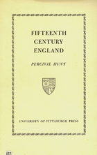 Fifteenth Century England, Hunt, Percival