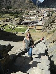 Author photo. Cristina Matta in Ollantaytambo, Cuzco, Peru June 2012