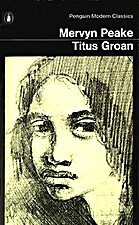 Cover art for Titus Groan, featuring a pencil sketch of a young woman with thick, dark hair