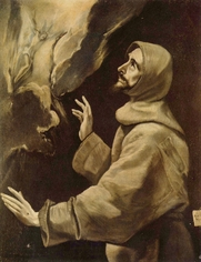 Author photo. Stigmatisation of St. Francis by El Greco, 1585.