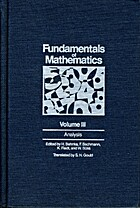 Fundamentals of Mathematics, Volume III:…
