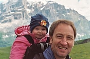 Author photo. David Else and his daughter go walking. The Independent