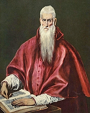 Author photo. St. Jerome as a Cardinal by El Greco.