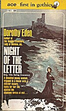 Night of the Letter by Dorothy Eden