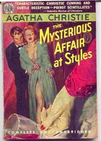 The Mysterious Affair At Styles vintage cover art