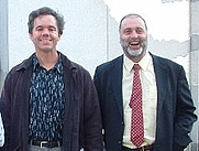Author photo. Michael Andre-Driussi (on left) Ultan's Library