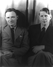 Author photo. Christopher Isherwood (left) and W.H. Auden (right) photographed by Carl Van Vechten, February 6, 1939. Library of Congress LC-USZ62-42537 DLC.