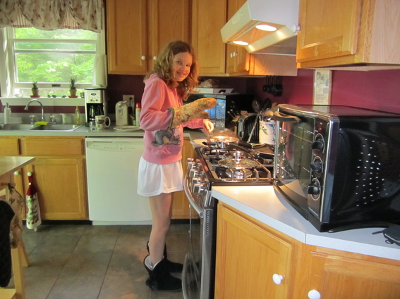memorable breakfast for Memorial Day - made by my sweet Sam!