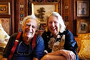 Author photo. Erica Wilson (1928-2011) and husband Vladimir Kagan