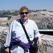 Author photo. Laura Resnick in Jerusalem