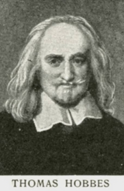 Author photo. Engraving of Thomas Hobbes