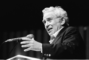 Author photo. Norman Mailer, Miami Book Fair International, 1988 by Wikipedia user MDCarchives