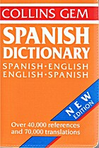 Spanish-English, English-Spanish Dictionary…