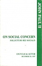 On Social Concern by Pope John Paul II