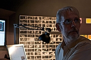 Author photo. Walter Murch working on Tetro in Buenos Aires, Argentina, 11 December 2008. Photo by Beatrice Murch.