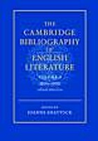 The Cambridge bibliography of English…