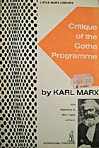 Critique of the Gotha Programme by Karl Marx