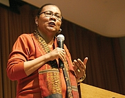 Author photo. bell hooks. Photo credit: Wikimedia Commons user Cmongirl