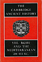 The Cambridge Ancient History: Vol. VIII (v.…
