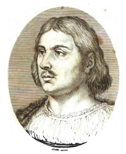 Author photo. Portrait of Giovanni Boccaccio from Il decameron di Messer Giovanni Boccaccio (Firenze : Ciardetti, 1822).