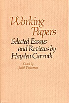 Working Papers: Selected Reviews and Essays…