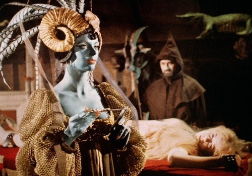 Still image from the 1968 film, Curse of the Crimson Altar