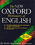 The New Oxford Dictionary of English by Judy…