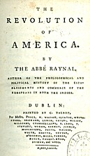 The revolution of America by abbé Raynal