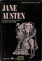 Jane Austen: A Collection of Critical Essays…
