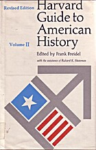 Harvard Guide to American History, Volumes I…