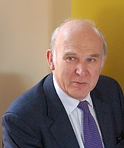 Author photo. Vince Cable. Photo by Andrew Sales.