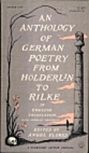 Anthology of German Poetry from Holderlin to…